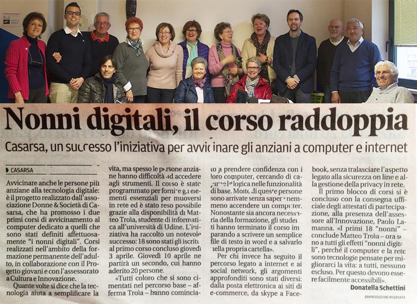 Dal Messaggero Veneto